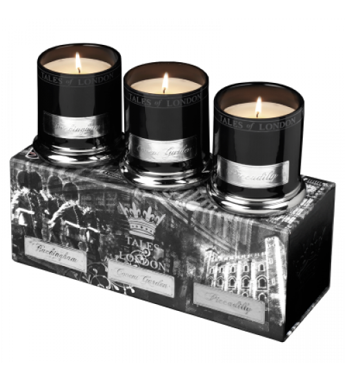 SET VELAS VOTIVE BUCKINGHAM - COVENT GARDEN - PICCADILLY 3x80g